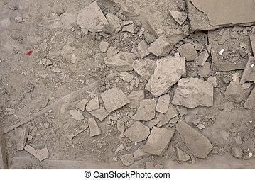 beton, lerombol, emelet