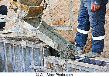 beton, munka