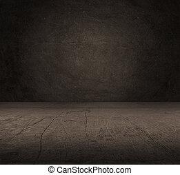 beton, oud, kamer