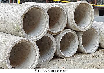 beton, pijpen