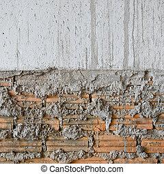 betongvägg, struktur