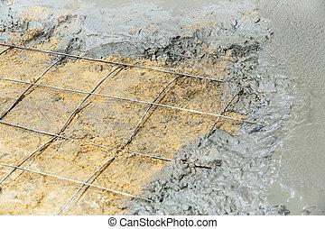betonnen vloeren, gieten