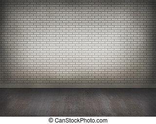 betonnen vloeren, muur, baksteen