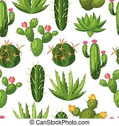 betriebe, natürliches muster, abstrakt, kaktusse, seamless