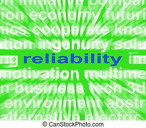 betrouwbaarheid, woord, middelen, eerlijk, betrouwbaar, en,...