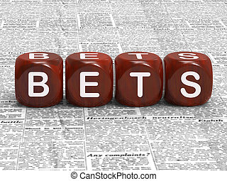 Bets Dice Mean Gambling Risk And Betting