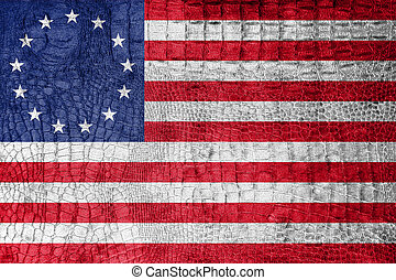 Betsy Ross Flag, on a luxurious, fashionable canvas