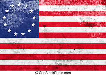 Betsy Ross Flag with a vintage and old look