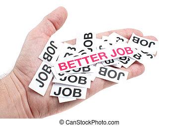 Better job, new job, top job