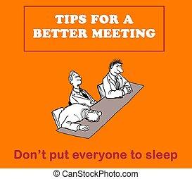 Better meeting - bored team members at meeting