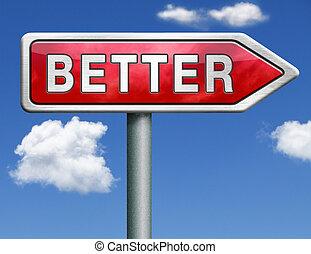 better road sign arrow