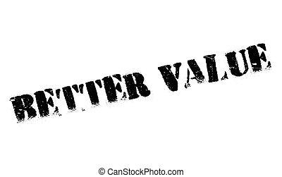Better Value rubber stamp