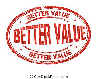 Better value sign or stamp