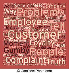 Better Ways to Handle Complaints text background wordcloud concept