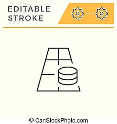 Betting line icon isolated on white. Editable stroke. Vector...