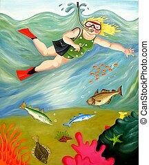 Betty goes Snorkeli - Betty goes snorkeling