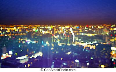 beuatiful, éjszakai élet, -, európai, cityscape