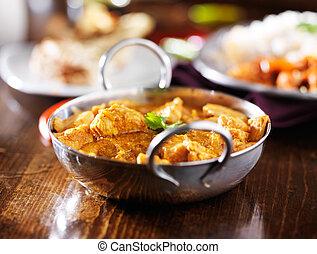 beurre, basmati, indien, poulet, riz, curry