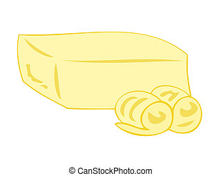 beurre, curls., bloc