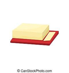 beurre, découpage, vecteur, planche, illustration