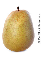 beurre hardy pear in front of white background