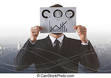 beursmarkt, analyse, concept