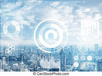 beursmarkt, cityscape, data, achtergrond