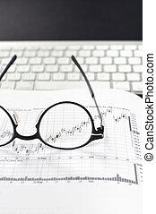 beursmarkt, diagrammen, analyse