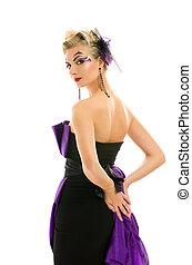beutiful, γυναίκα , μοντέρνος , μακιγιάζ , hairstyle , δημιουργικός , φόρεμα
