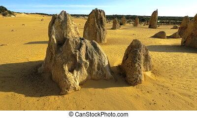 Beutiful aerial shot of limestones