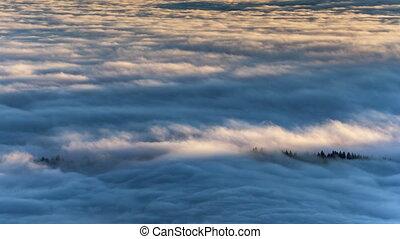 Beutiful Sunrise above the clouds.