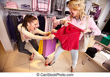 bevásárlás, erőszak