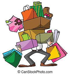 bevásárlás, férj