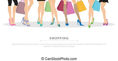bevásárlás, lány
