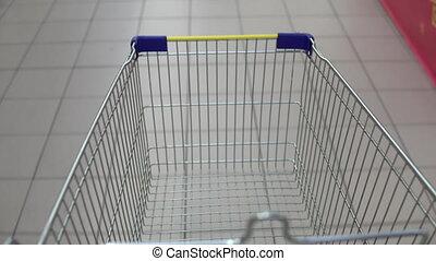 bevásárlókocsi, lény, kilátás, store., first-person,...
