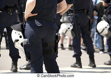 beväpnat, polis