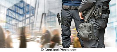 beväpnat, poliser