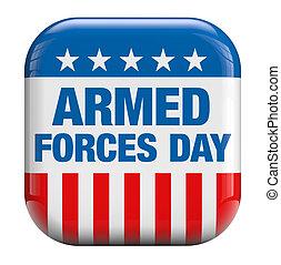 bevæbne fremtvinge, dag, united states