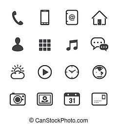 bevægelig telefoner., iconerne