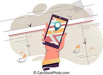 bevægelig telefoner., navigation