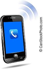 bevægelig telefoner., sammenhænge, teknologi