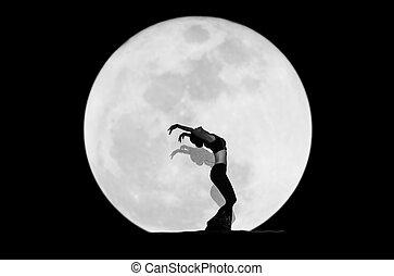 bevallige danser, silhouette