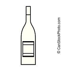 bevanda, bevanda, isolato, bottiglia, alcool