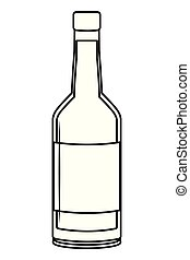 bevanda, cartone animato, bevanda, alcolico