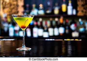 bevanda, sbarra, cocktail