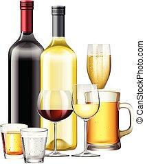 bevanda, set, alcolico