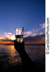 bevanda, tramonto