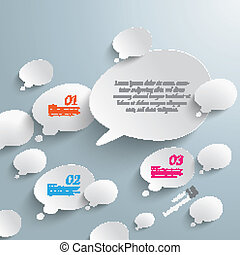 Bevel Speech And Thought Bubbles Infographic Design