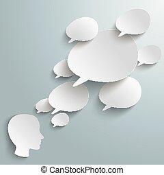 Bevel Speech Bubbles Human Head