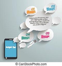 Bevel Speech Bubbles Smartphone